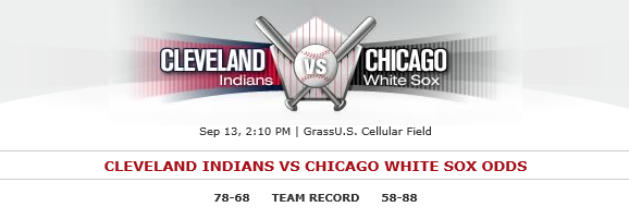 Cleveland Indians at Chicago White Sox Sept 13