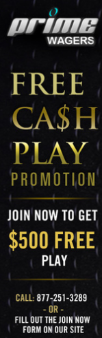 Prime Wagers $500 New Account Promotion
