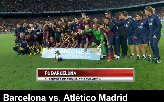 Barcelona wins 11th Supercopa De Espana beating Atletico Madrid 8/28