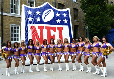 Vikings Cheerleader Squad in London