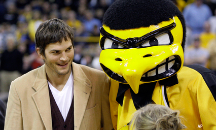Ashton Kutcher is a big Sports Fan